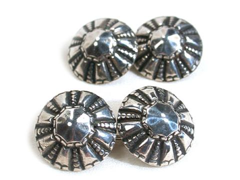 Buttoned Up - Early Silver Cufflinks