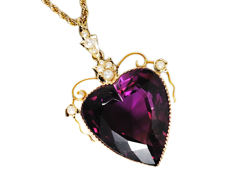 Heart of My Heart: Amethyst Pearl Pendant Necklace