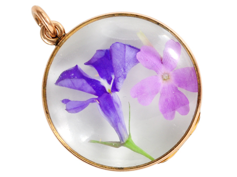 Edwardian Large Rock Crystal Locket Pendant