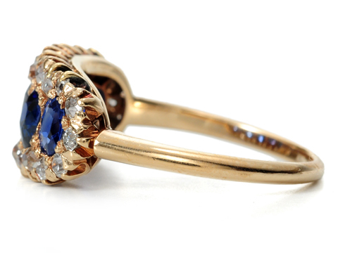 Edwardian Perfection: Diamond Sapphire Ring