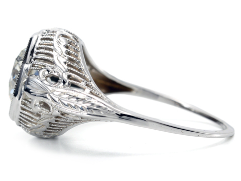 American Art Deco Diamond Ring of 1.27c.