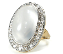 A Magical Moonrise - Vintage Moonstone Ring