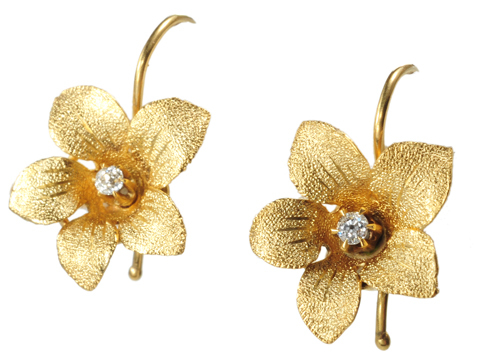 Edwardian Diamond Flower Earrings