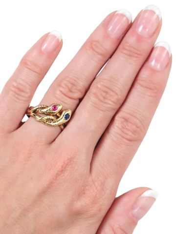 Entwined Forever: Double Snake Ring