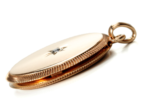 Victorian Vanity in a  Diamond Locket