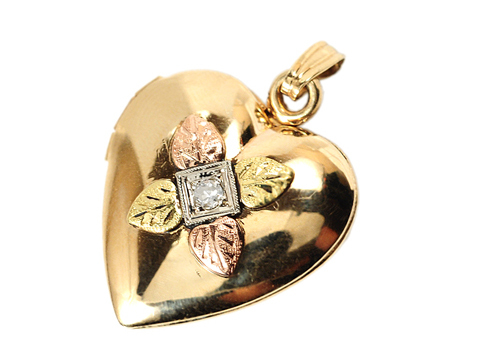 Art Deco Diamond Heart Locket