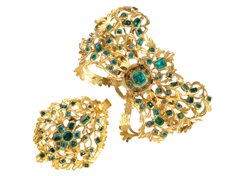 Rare 18th C. Spanish Emerald Brooch & Pendant