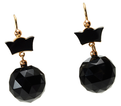Victorian Modern: Onyx Earrings