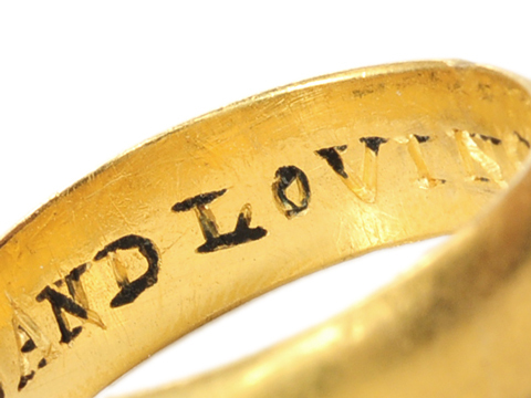 Very Rare 17th C. Antique Poesy Ring