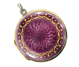 Tempting Edwardian Guilloché Enamel Locket