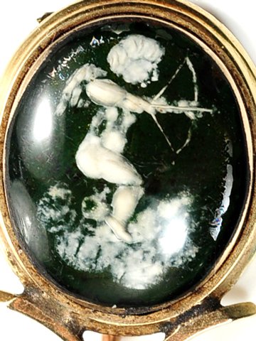 Georgian Halley's Comet Cherub Brooch