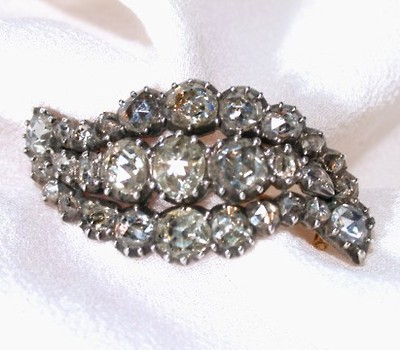 Antique Diamond Encrusted Brooch