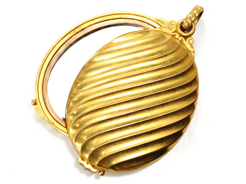 Vanity Fair - French 18k Locket Slide