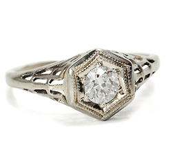 Art Deco Divine in a Diamond Ring