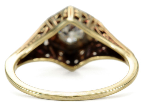 Lovely Art Deco Solitaire Diamond Ring