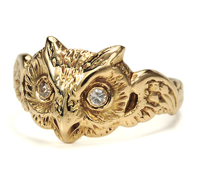 Magic, Mystery & Wisdom: Art Deco Diamond Owl Ring