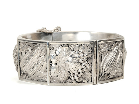 Harvest & Abundance: Signed Topazio Silver Bangle