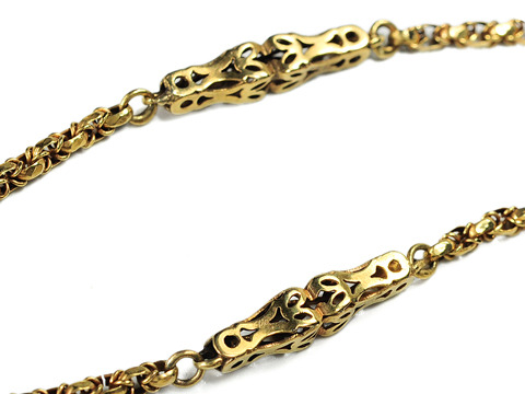 Victorian Ornate Long Chain Necklace
