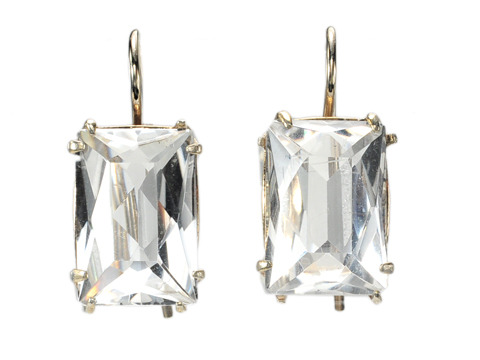 Russian Chic: Rock Crystal Earrings