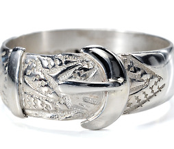 Late 19th C. Buckle Ring in Sterling Silver