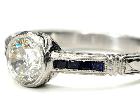 Sapphires & Shimmer in an Engagement Ring