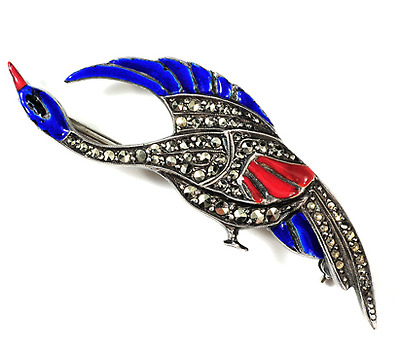 Art Deco Bird in Flight Brooch
