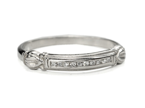 Thank You: Platinum Half-Eternity Ring with Diamonds