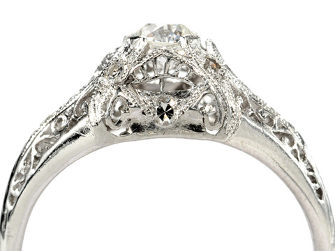 Art Deco Ice in a Platinum Diamond Ring