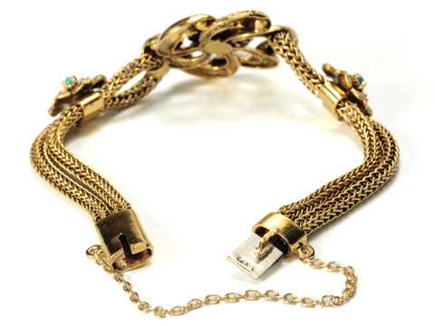 Antique Algerian Love Knot Bracelet