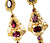 Georgian Garnet Cannetille Pendant Earrings