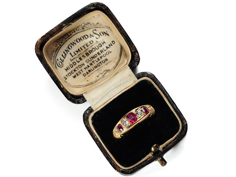 Victorian Red: Diamond & Ruby Ring