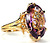 Edwardian Carved Amethyst Ring
