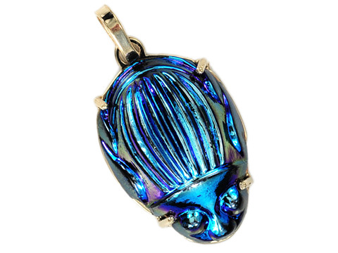 Tiffany Favrile Art Glass Scarab Pendant