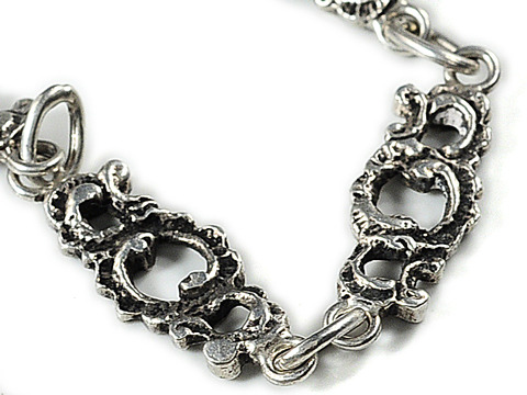 Infinity: Art Nouveau Long Guard Silver Chain