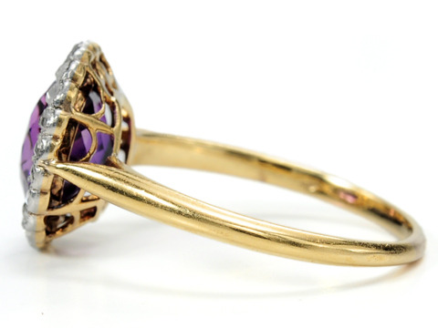 Edwardian Royalty in a Cluster Ring