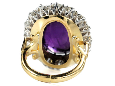 The Finer Life - Amethyst Diamond Cluster Ring