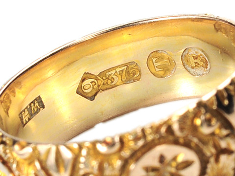 Ornate Victorian Wedding Band