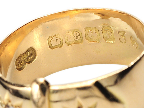 Edwardian Vintage Diamond Buckle Ring