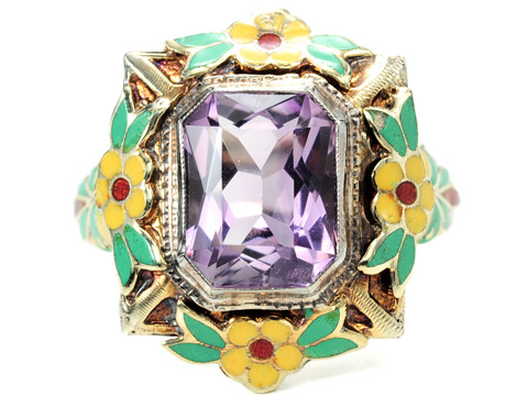 Not the Usual Art Deco Amethyst Ring