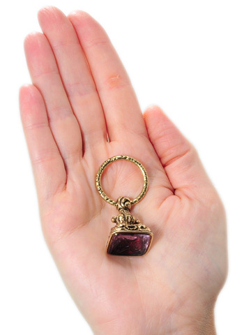 Love Take Flight - Georgian  Amethyst Fob Pendant