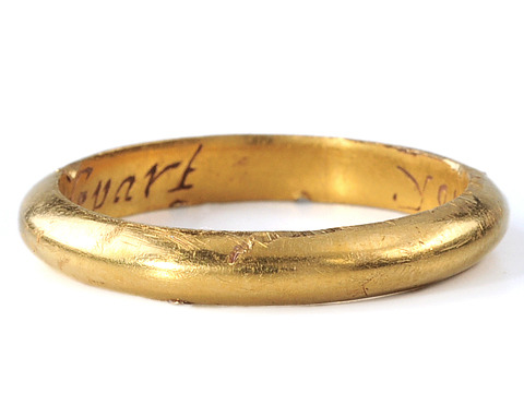 "17th C. Poesy Ring: ""Yours In Heart Till Death Depart'"