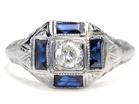 Belais Bros. Beauty in a Diamond Sapphire Ring