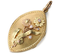 Atypical Victorian Diamond Set Locket