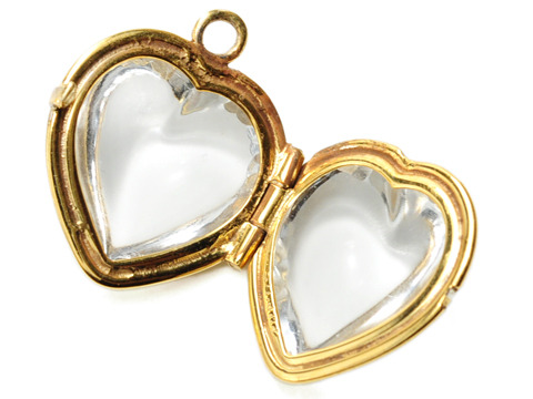 Rock of Ages - Crystal Heart Locket in Gold