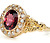 Victorian Vanity: Garnet & Diamond Ring