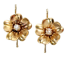 Flower Power: Antique Diamond Earrings