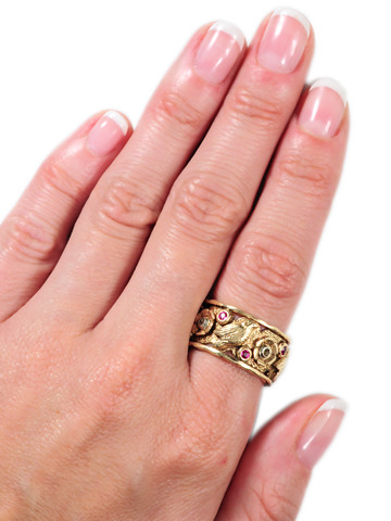 Retro Rose Gold Eternity Band