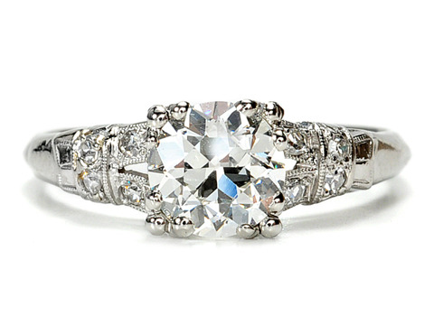 Clarity in an Antique Old European Diamond Platinum Ring