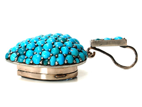 Persian Turquoise Heart Pendant Locket