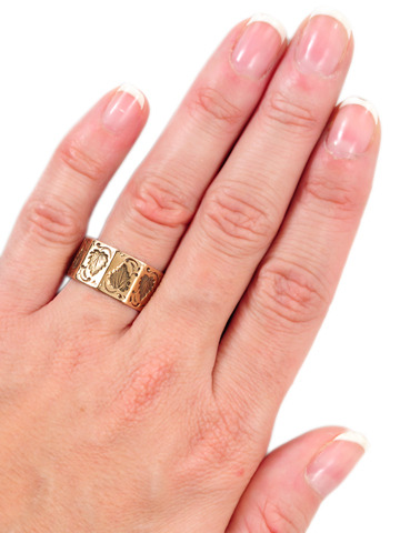 Victorian Nine-Sided Gold Band